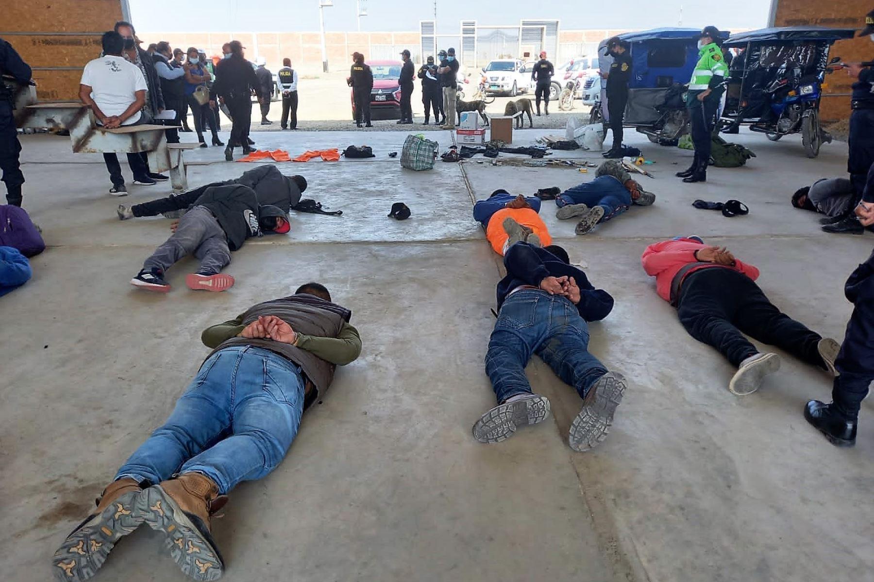 Policía Nacional presentó los resultados del operativo