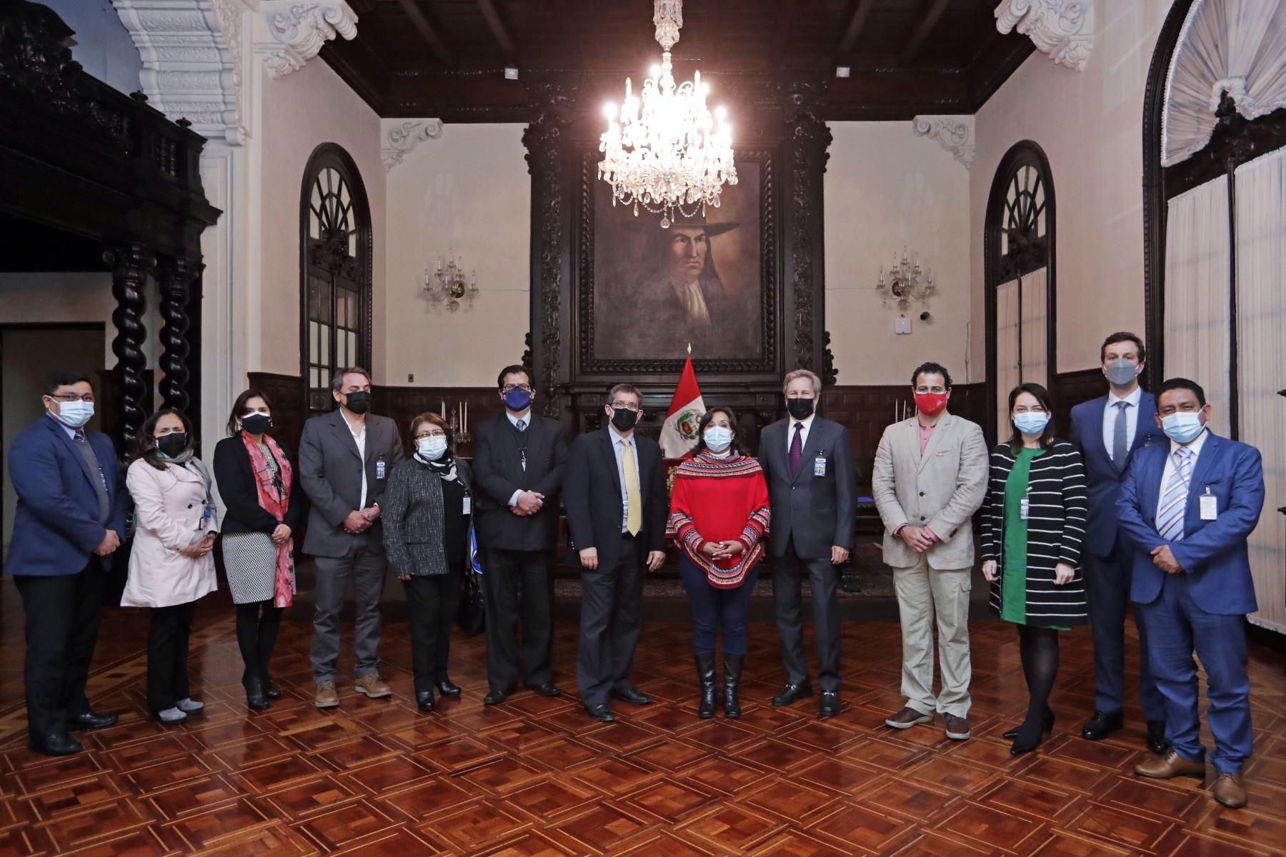 La vicepresidenta Dina Boluarte se reunió con los operadores aerocomerciales y turísticos. Foto: ANDINA/Prensa Presidencia