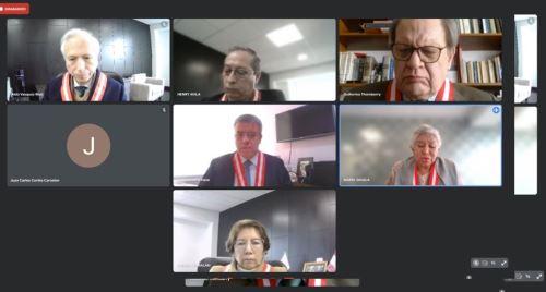 Sesión virtual de la Junta Nacional de Justicia, desarrollada hoy. Cortesía