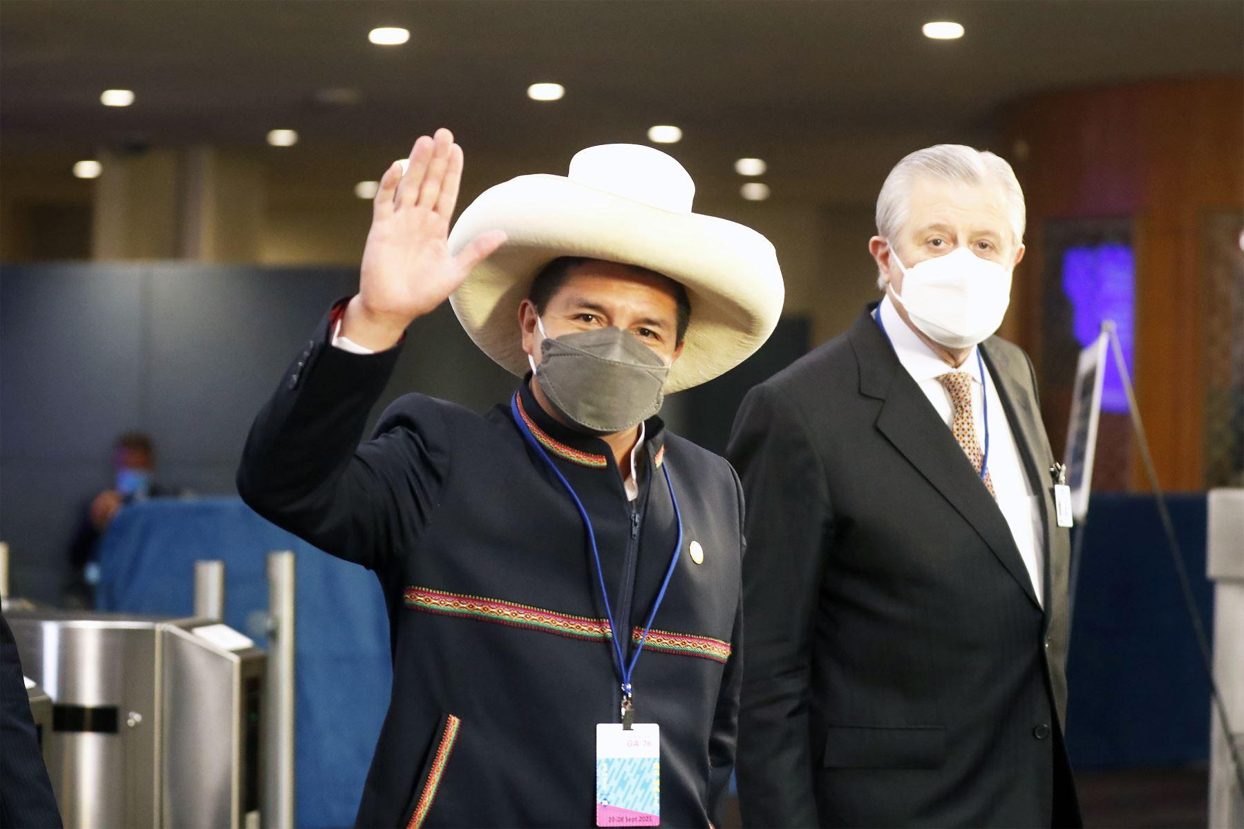 El presidente de la República, Pedro Castillo, asiste a la Asamblea General de las Naciones Unidas. Foto: ANDINA/ Prensa Presidencia