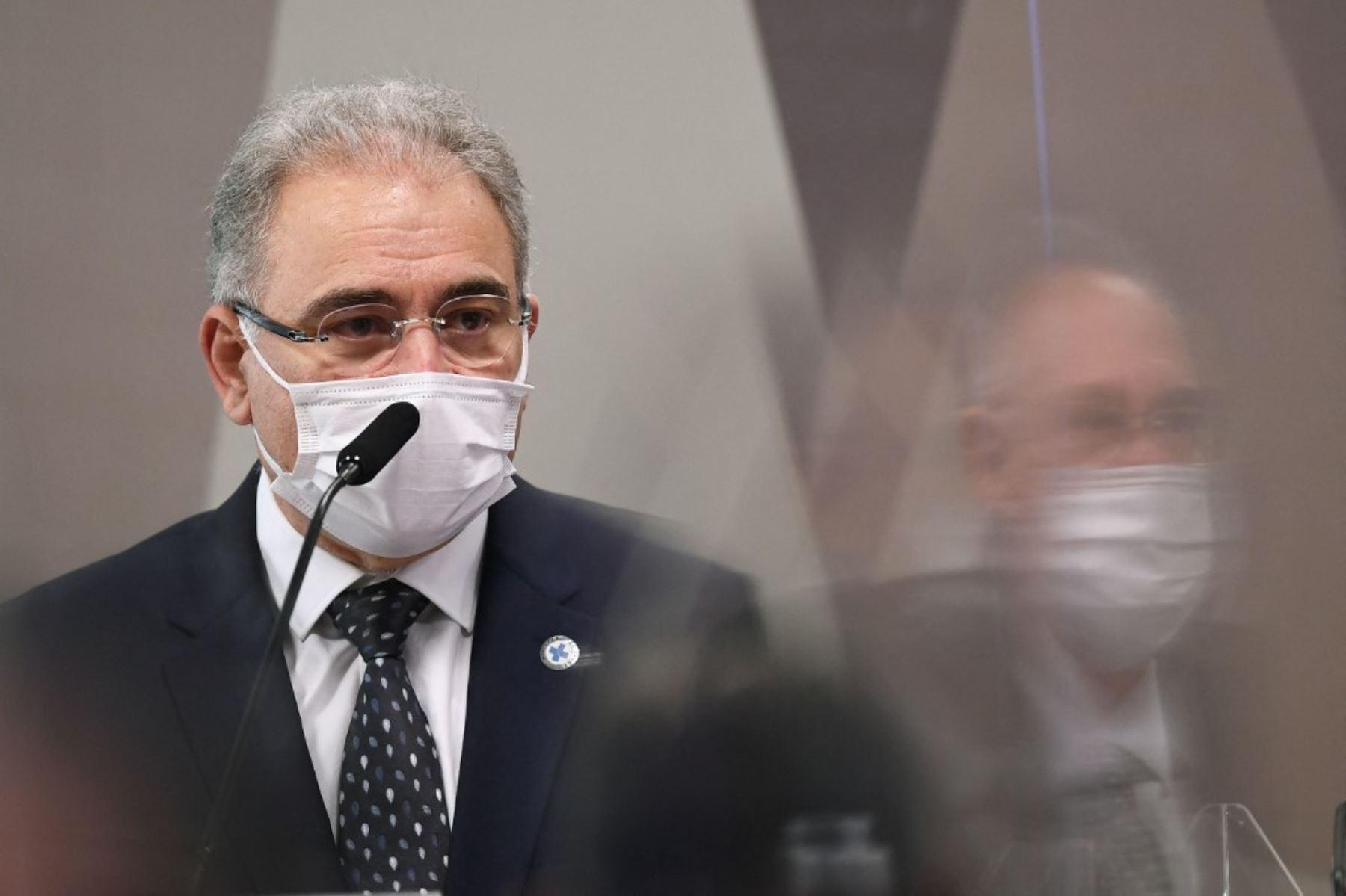 El ministro de Salud de Brasil, Marcelo Queiroga, dio positivo a covid-19. Foto: AFP