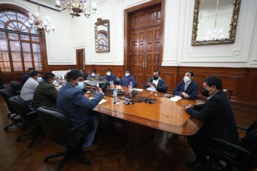 Premier Guido Bellido se reunió con alcaldes de la provincia de Espinar (Cusco)