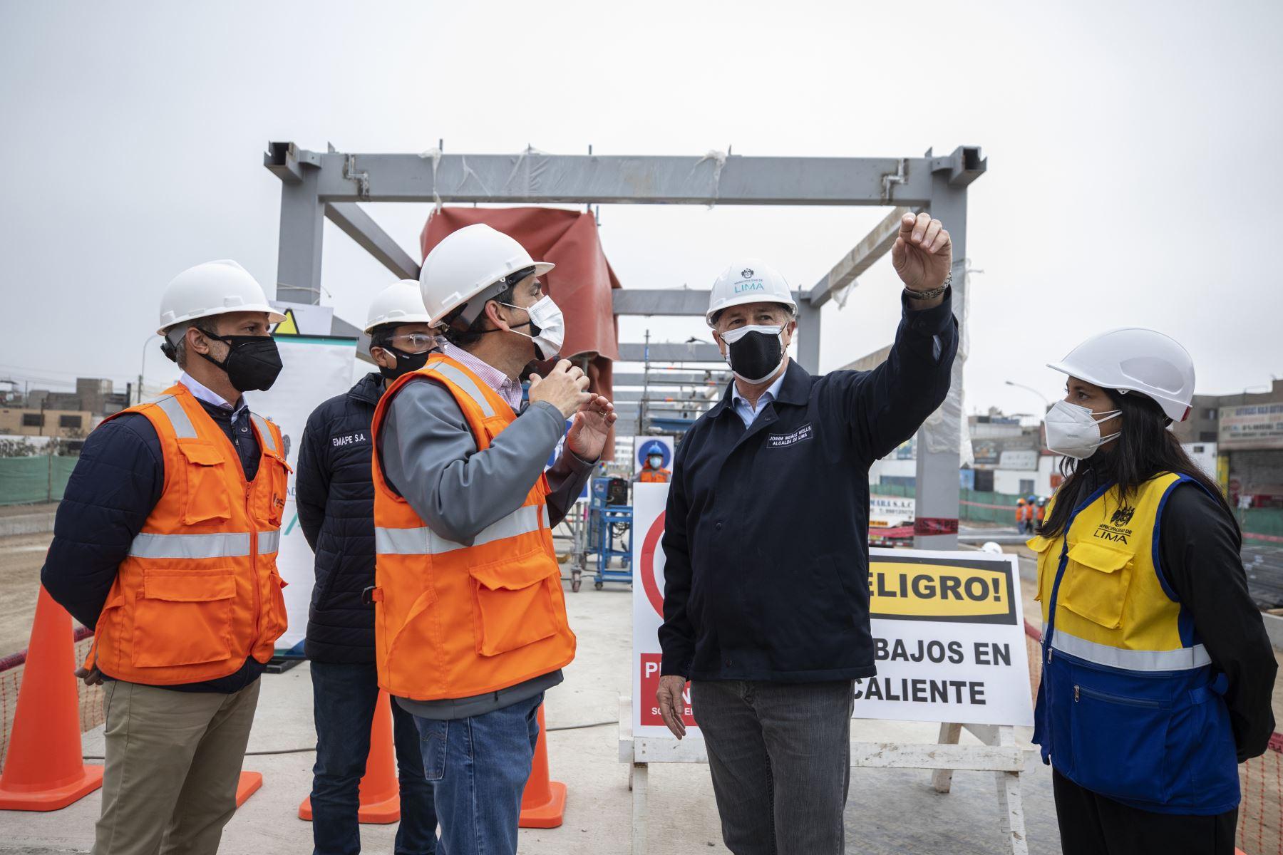 Alcalde de Lima, Jorge Muñoz, supervisa obras. Foto: ANDINA/difusión.