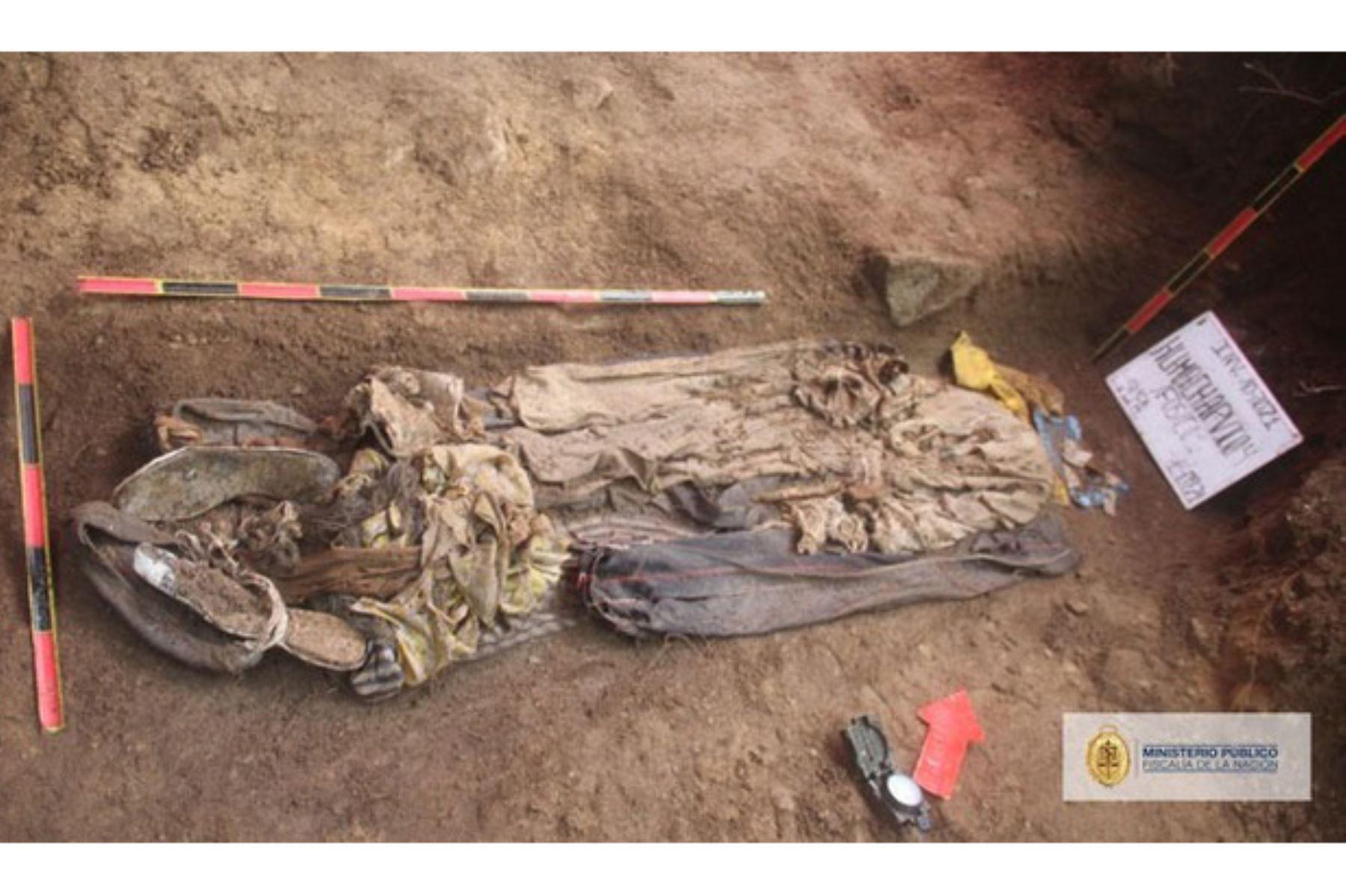 El Ministerio Público encontró e identificó restos de personas desaparecidas desde 1991 en Huánuco.