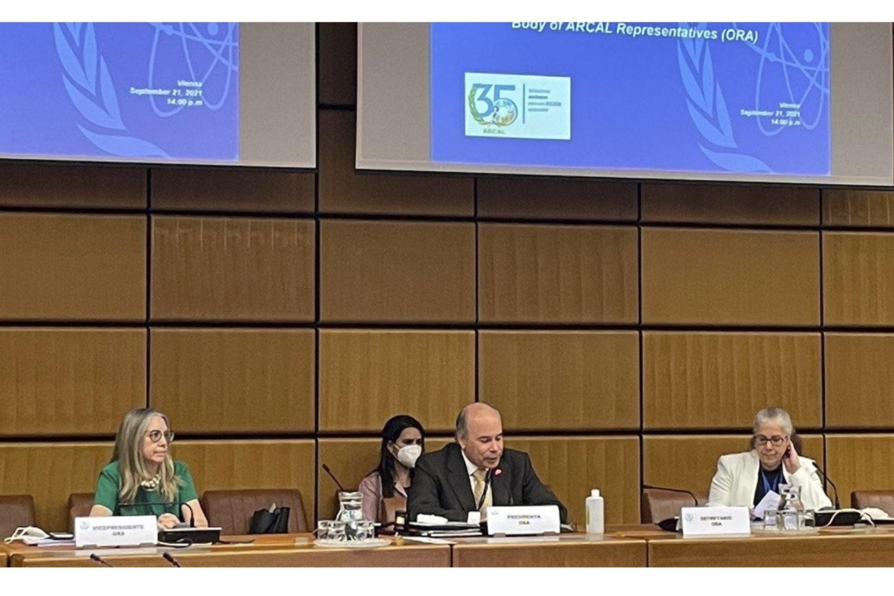 El Perú asumió la presidencia del Órgano de Representantes (ORA) del Acuerdo Regional de Cooperación para la Promoción de la Ciencia y la Tecnología Nucleares de América Latina y el Caribe (ARCAL)