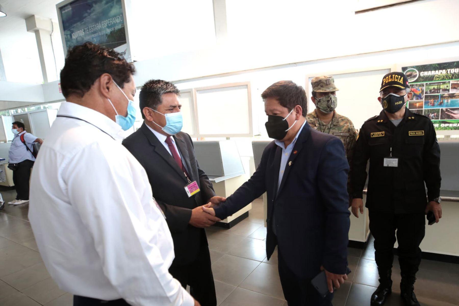 Titular de la PCM, Guido Bellido, llegó a Iquitos para participar en el 15°Gore Ejecutivo, espacio de articulación que reúne a ministros de Estado con los gobernadores regionales y sus equipos, para impulsar el trabajo conjunto por el desarrollo de los departamentos. Foto: PCM