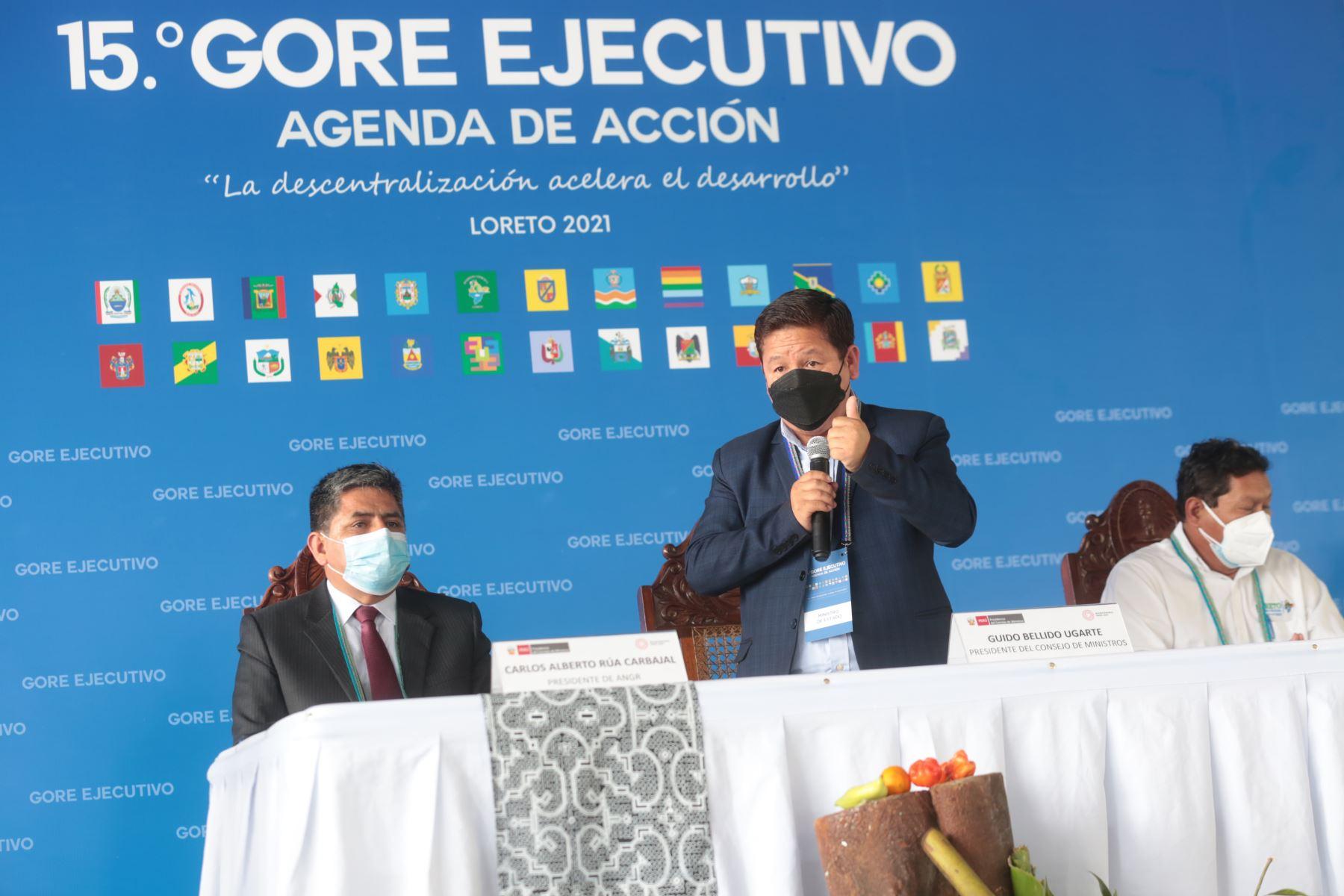 Titular de la PCM, Guido Bellido, participa en el 15° GORE Ejecutivo, espacio de articulación que reúne a ministros de Estado con los gobernadores regionales y sus equipos, para impulsar el trabajo conjunto por el desarrollo de los departamentos. Foto: PCM