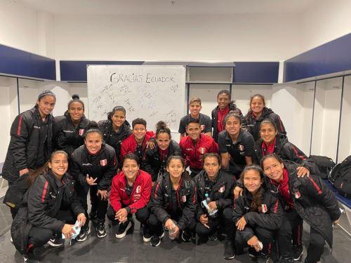 La selección peruana femenina llega hoy a Lima tras su periplo por Ecuador