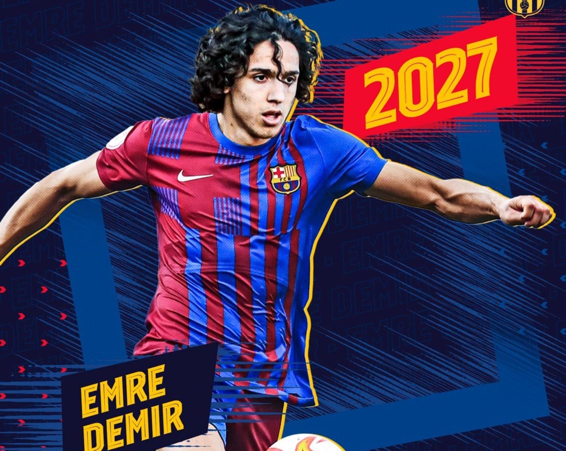 El turco Emre Demir firmó por el Barcelona hasta el 2027.