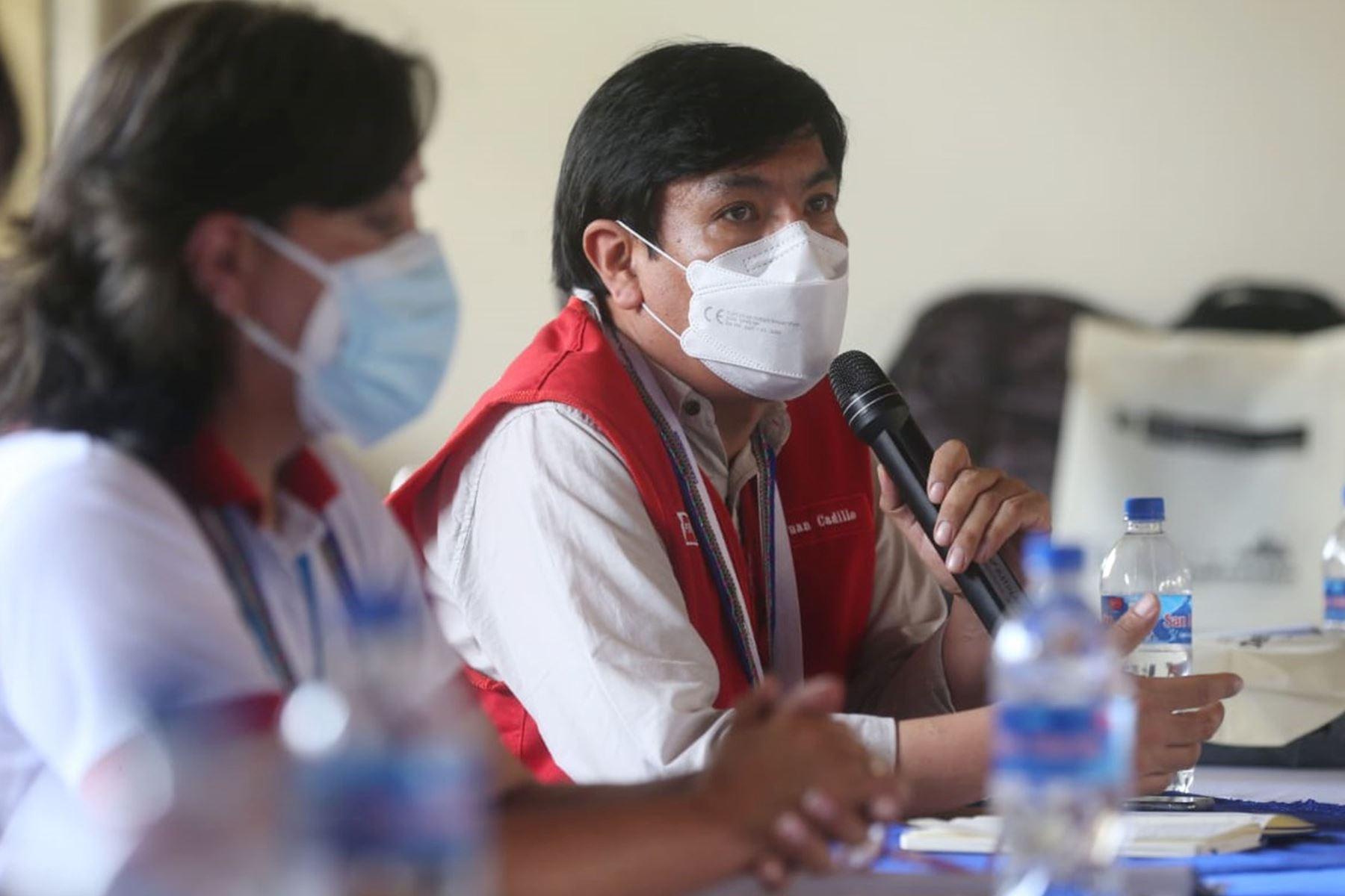 El ministro de Educación, Juan Cadillo, participa en el Gore Ejecutivo que se desarrolla en la ciudad de Iquitos, región Loreto. Foto: ANDINA/Difusión
