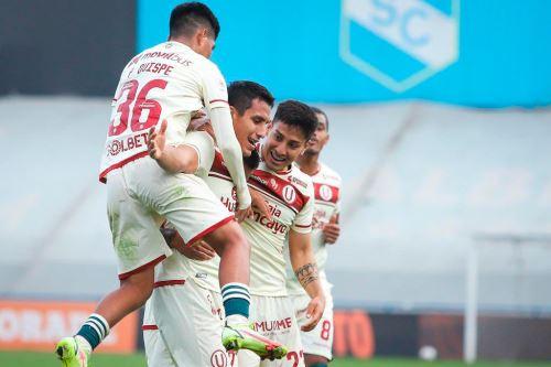 Valera marcó su primer hat trick con Universitario de Deportes. Foto: Twitter Liga 1