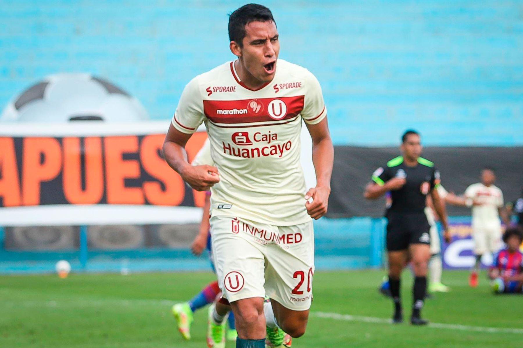 Alex Valera llegó a Universitario este año, tras descender con Llaucabamba el 2020. Foto: Twitter Liga 1.