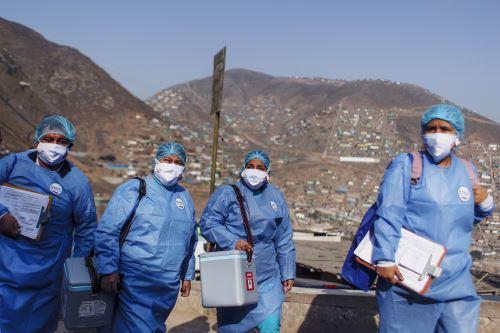Covid-19: Brigadas de salud del Minsa impulsan la vacunación casa por casa en  San Juan de Miraflores