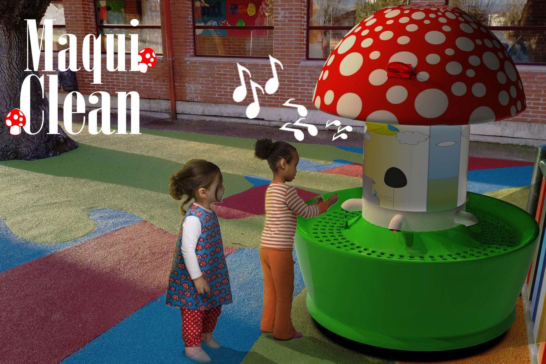 Maqui Clean, es un lavadero interactivo que cuenta con un sistema de cronometraje automático para el lavado de manos adecuado de los pequeños, tiene un sensor en el caño que se activa cuando el niño se acerca al grifo, de esta forma no tocará ninguna superficie. (Foto: UPN)