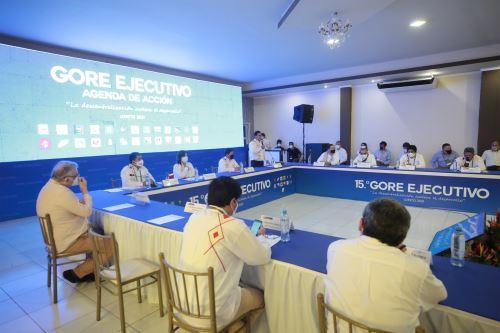 El titular de la PCM Guido Bellido participa en el 15° GORE Ejecutivo en Loreto
