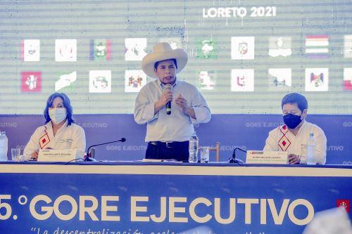 Presidente Pedro Castillo clausuró el 15º GORE Ejecutivo en Iquitos