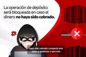 Captura de pantalla del video del Banco de la Nación para prevenir estafas en el marco de la campaña #AltoAlFraude.