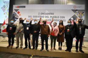 I Encuentro del Gobierno del Pueblo con las Organizaciones Sindicales.