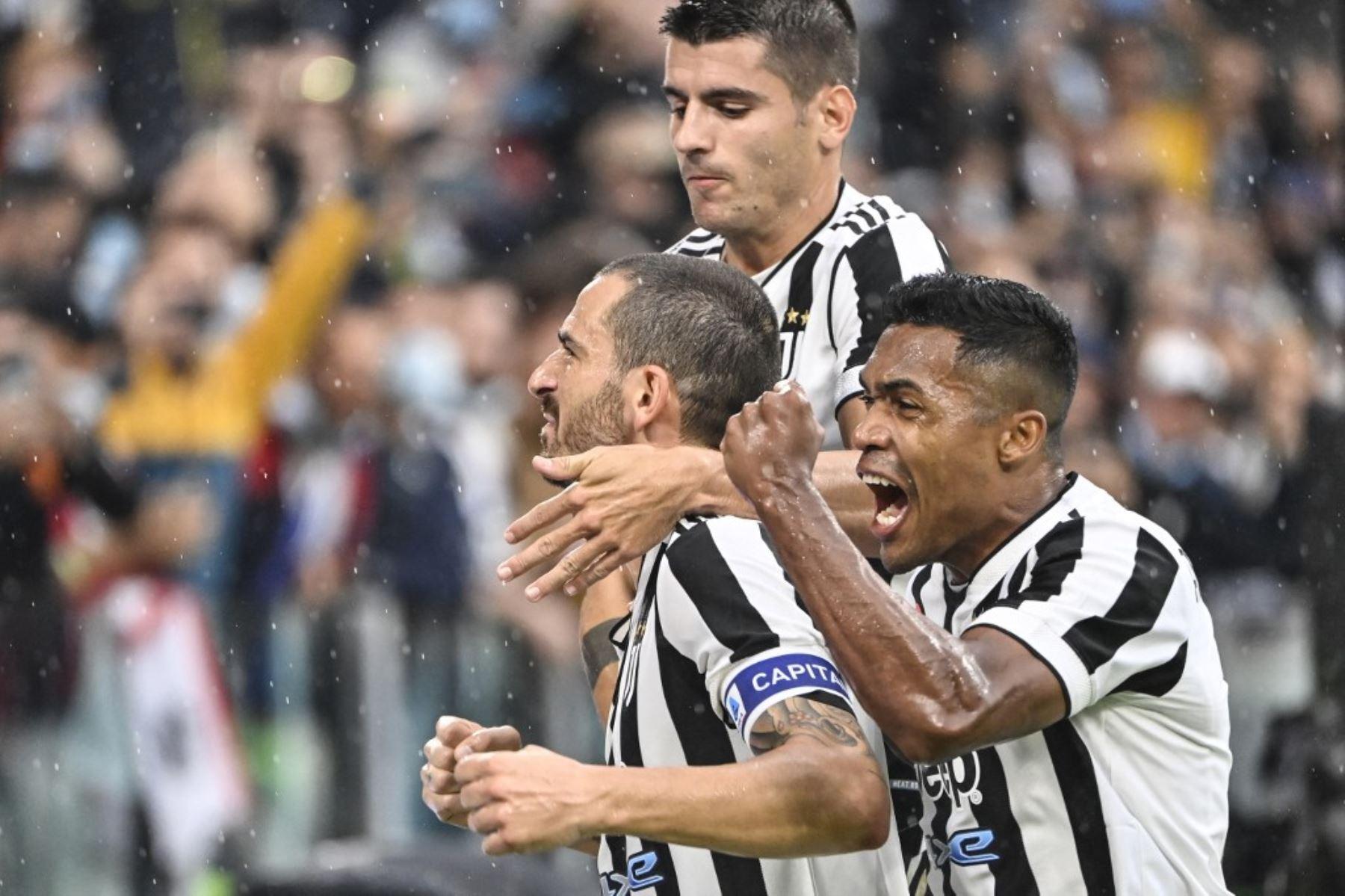 Bonucci grita el gol del triunfo de la Juventus