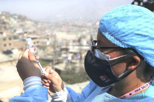 Covid-19: Minsa realiza vacunación casa por casa en el distrito de Ate. Foto: ANDINA/Carla Patiño.