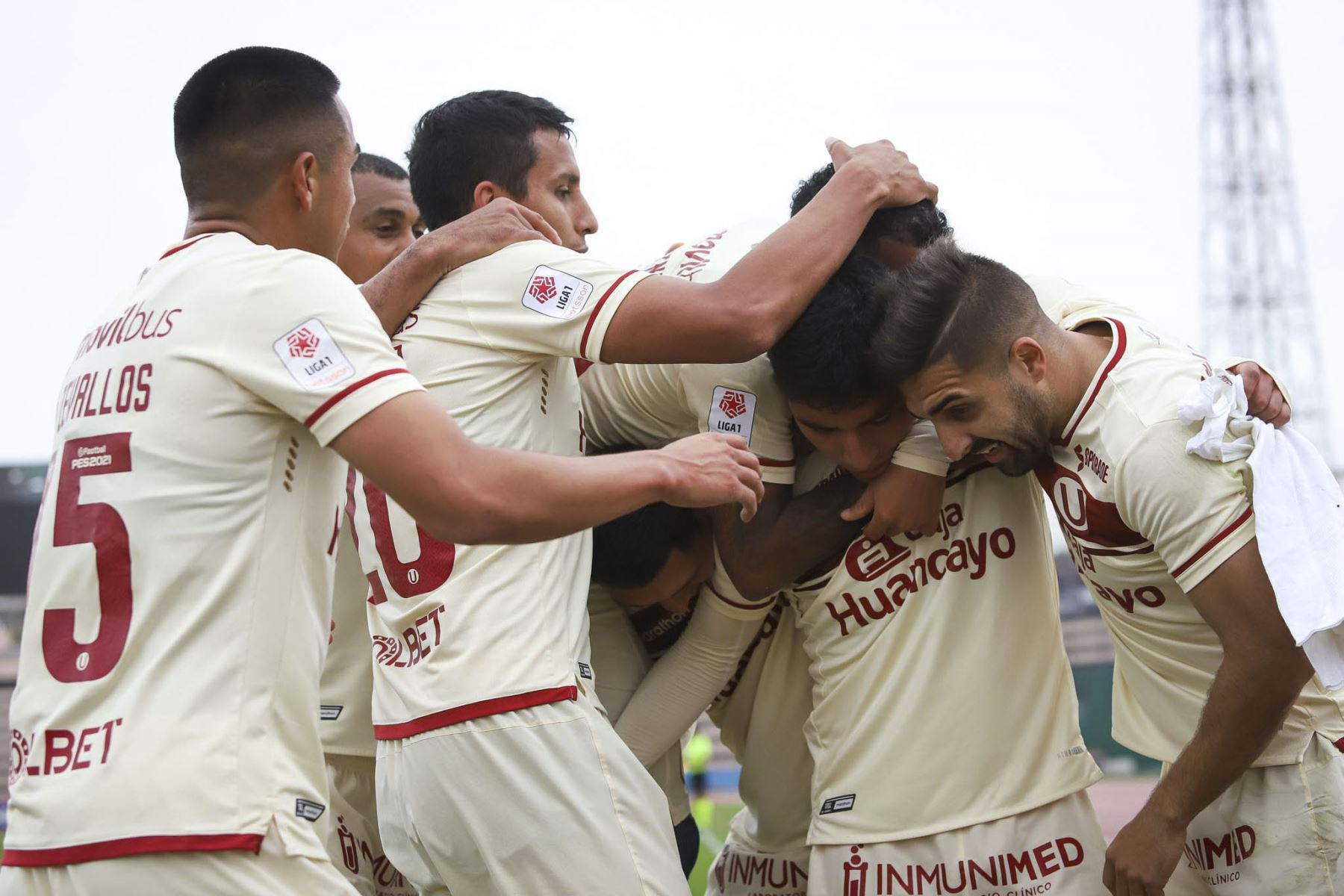 Universitario de Deportes gana 3 a 0 a Sport Huancayo en un partido por la fecha 13 de la Fase 2 de la Liga 1 Profesional. Foto: ANDINA/Liga 1