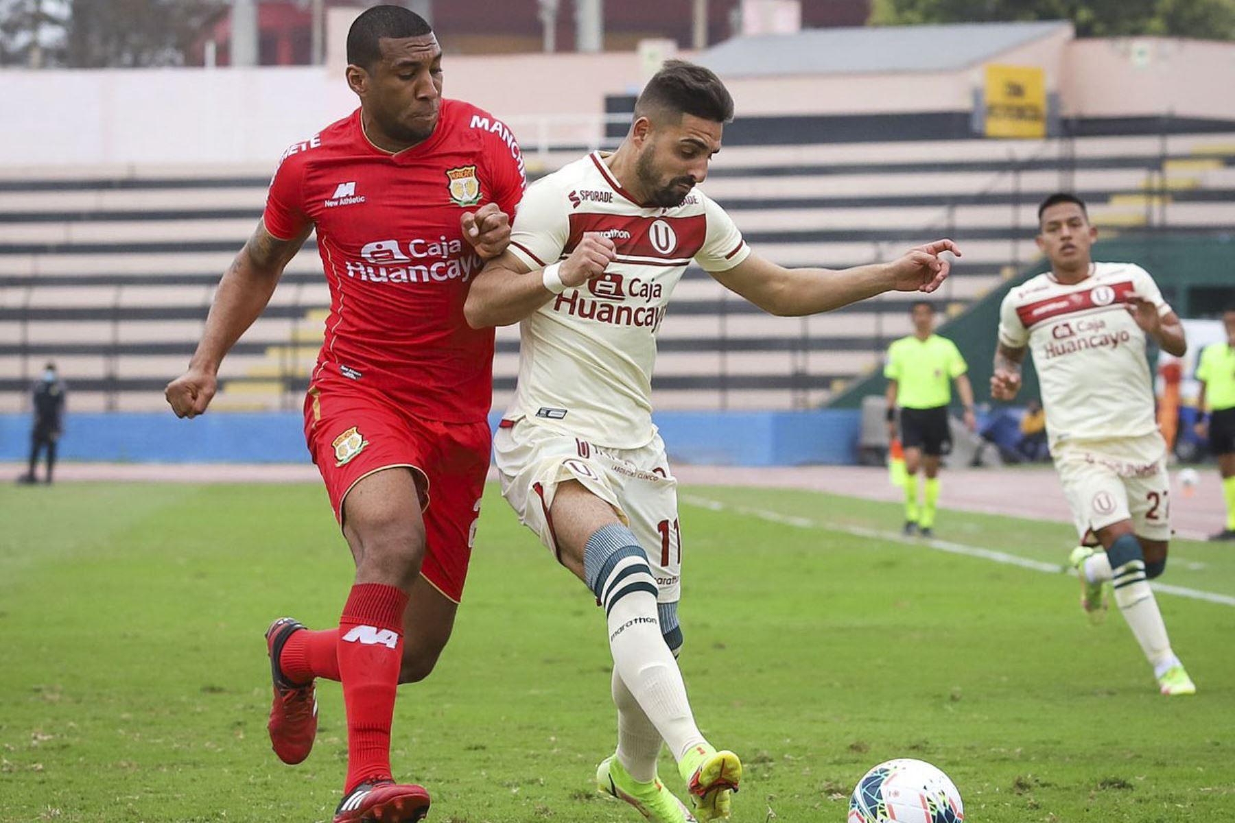 Universitario de Deportes gana 3 a 1 a Sport Huancayo en un partido por la fecha 13 de la Fase 2 de la Liga 1 Profesional. Foto: ANDINA/Liga 1