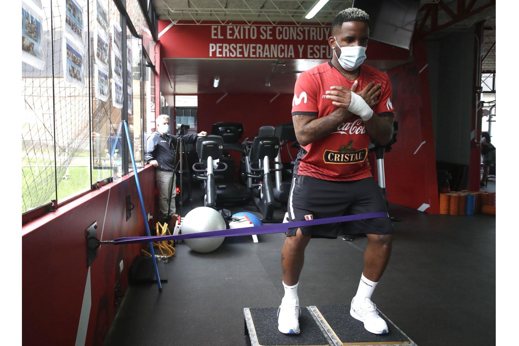 Integrantes de la Selección Peruana , inician los entrenamientos con miras a la próxima fecha triple de las Clasificatorias al Mundial Qatar 2022. En la foto, Jefferson Farfán. Foto: @SeleccionPeru