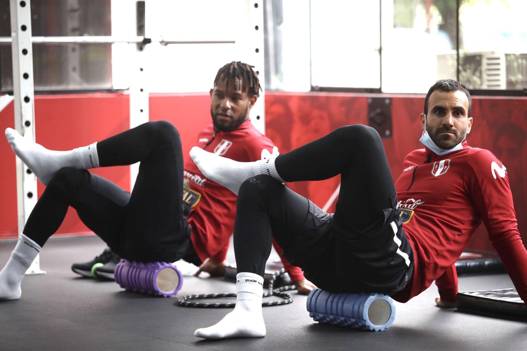 Integrantes de la Selección Peruana , inician los entrenamientos con miras a la próxima fecha triple de las Clasificatorias al Mundial Qatar 2022. En la foto, José Carvallo. Foto: @SeleccionPeru