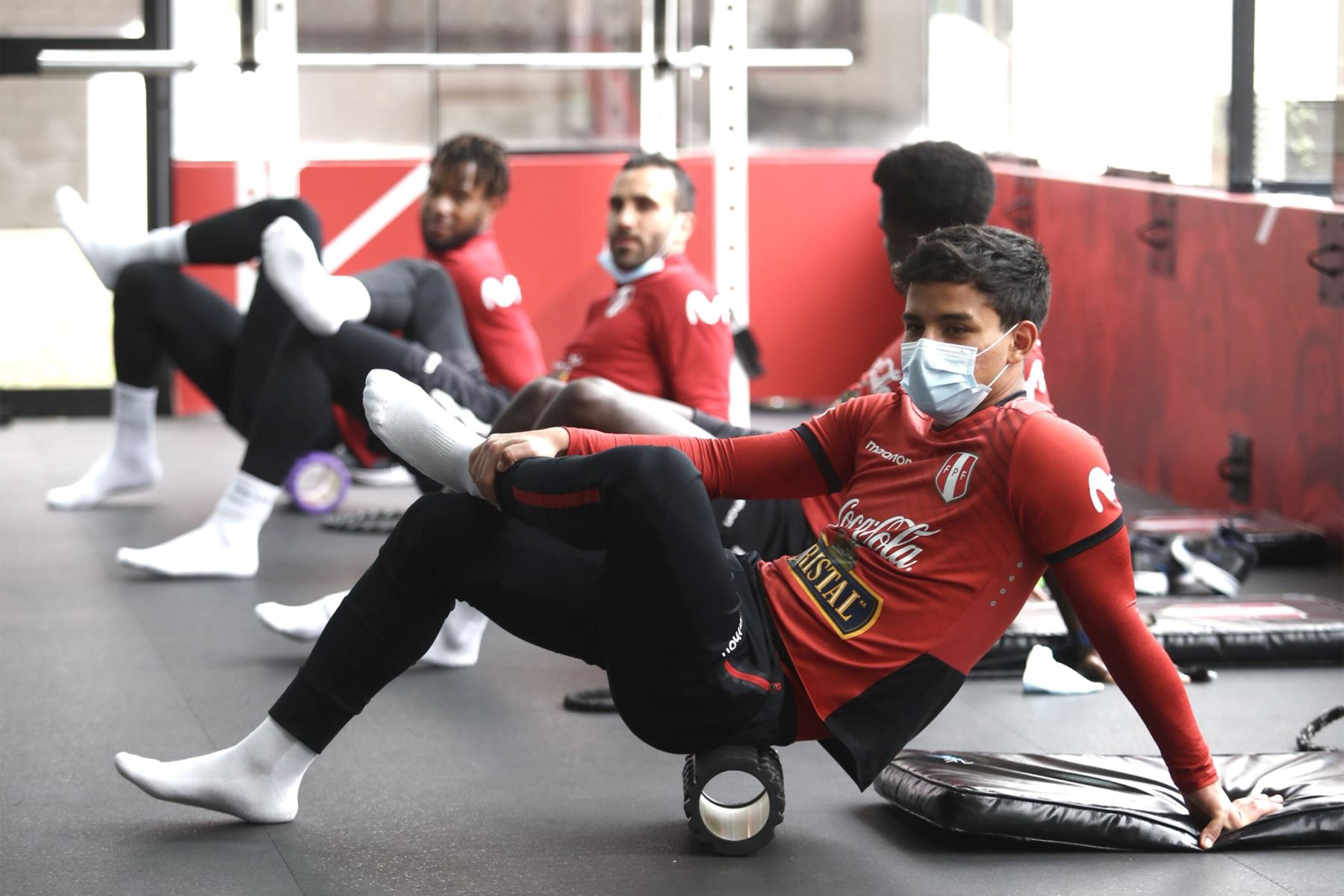 Integrantes de la Selección Peruana , inician los entrenamientos con miras a la próxima fecha triple de las Clasificatorias al Mundial Qatar 2022. En la foto, Jhilmar Lora . Foto: @SeleccionPeru