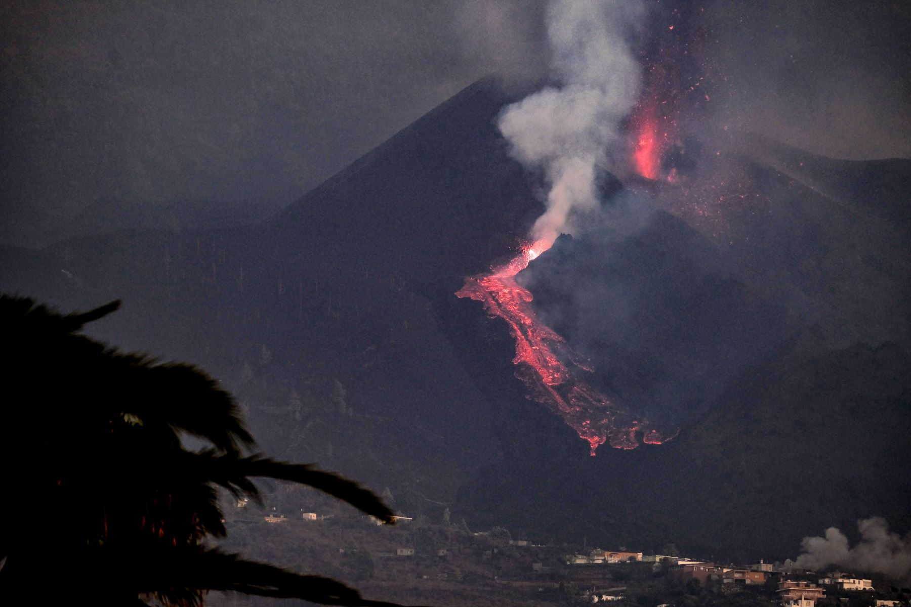 Más de mil edificaciones afectadas por la lava en la isla de La Palma