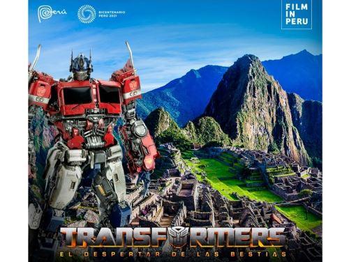 """Los actores principales de la película """"Transformers"""" y el director dejaron el Cusco, y lo hicieron maravillados. Foto: ANDINA/Difusión"""