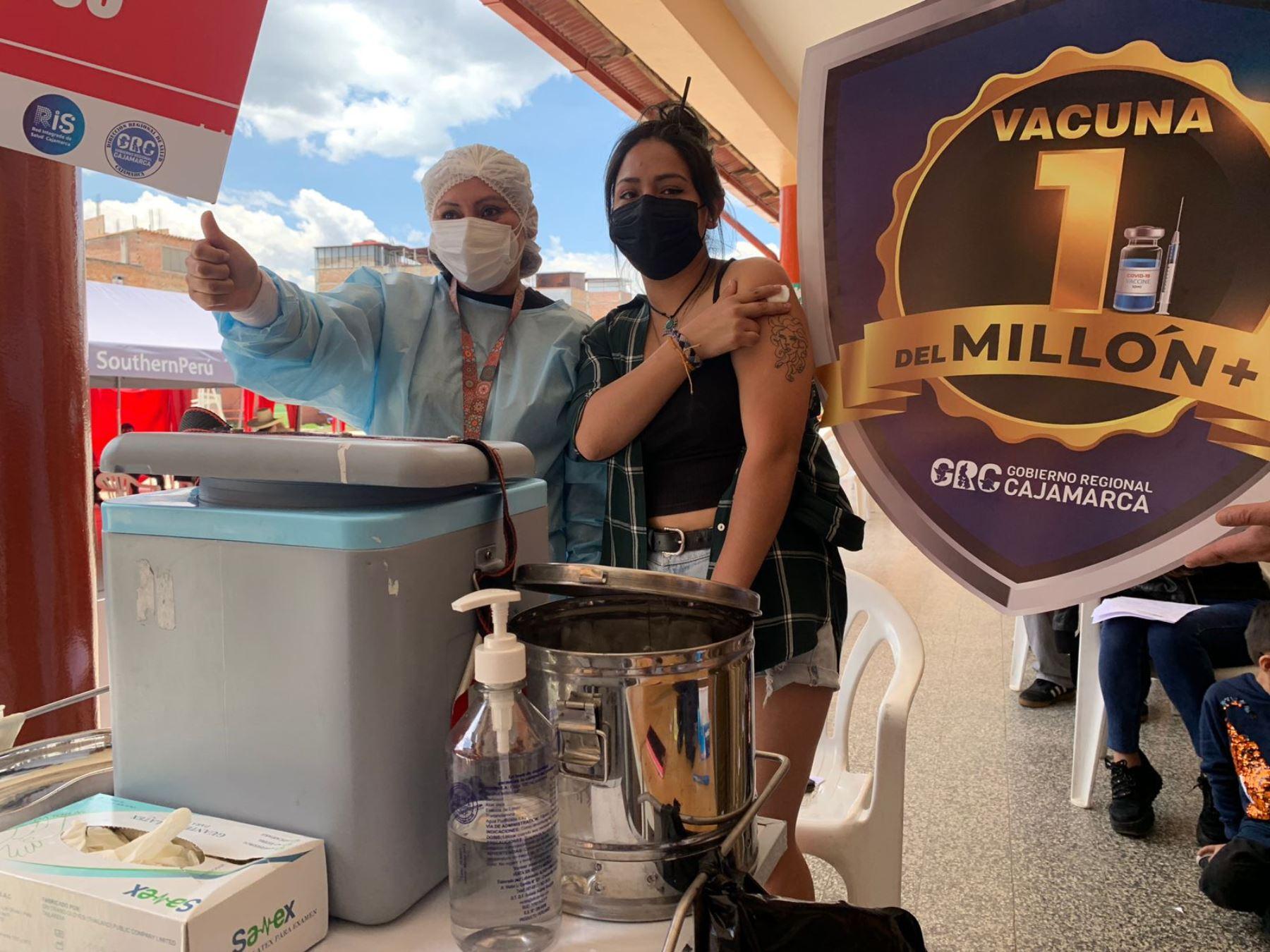 Región Cajamarca supera el millón de vacunados contra el covid-19