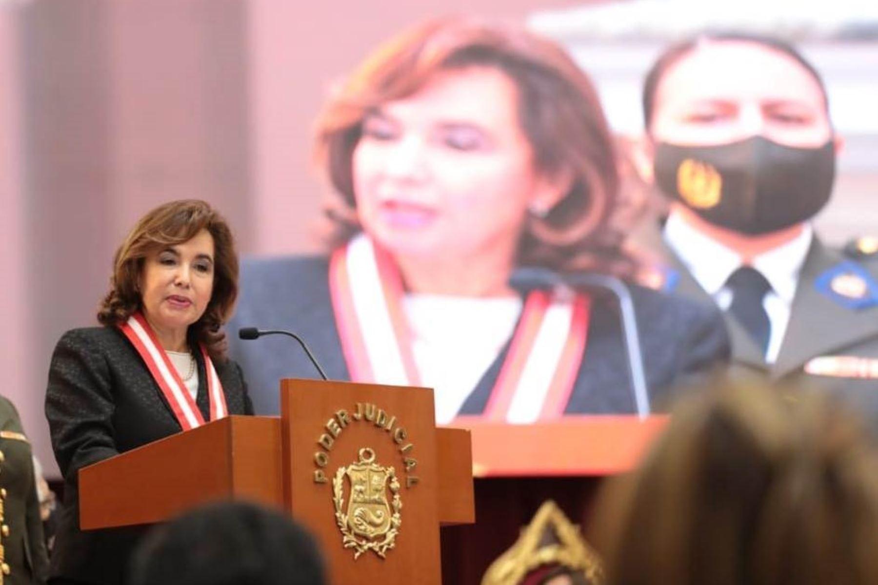 Elvia Barrios resalta avances de justicia en Corte de Lima Sur