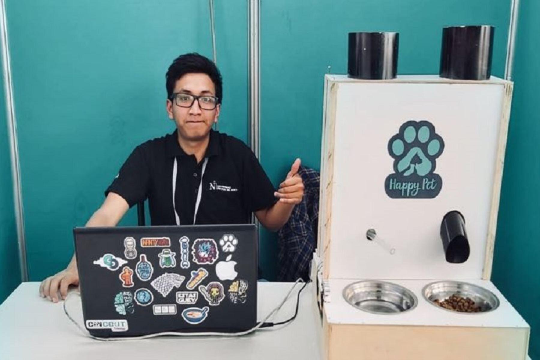Ingeniero peruano diseña dispensador automático de alimento para mascotas