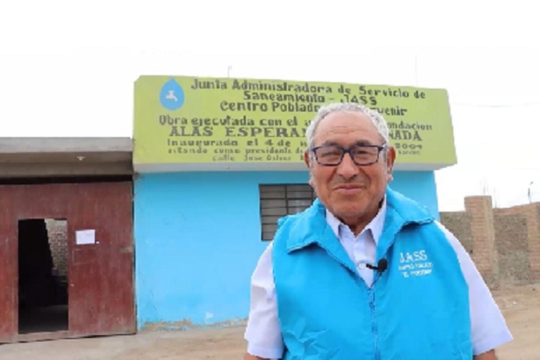 Reconocen a JASS de Porvenir Supe por adecuada cloración del agua en su comunidad