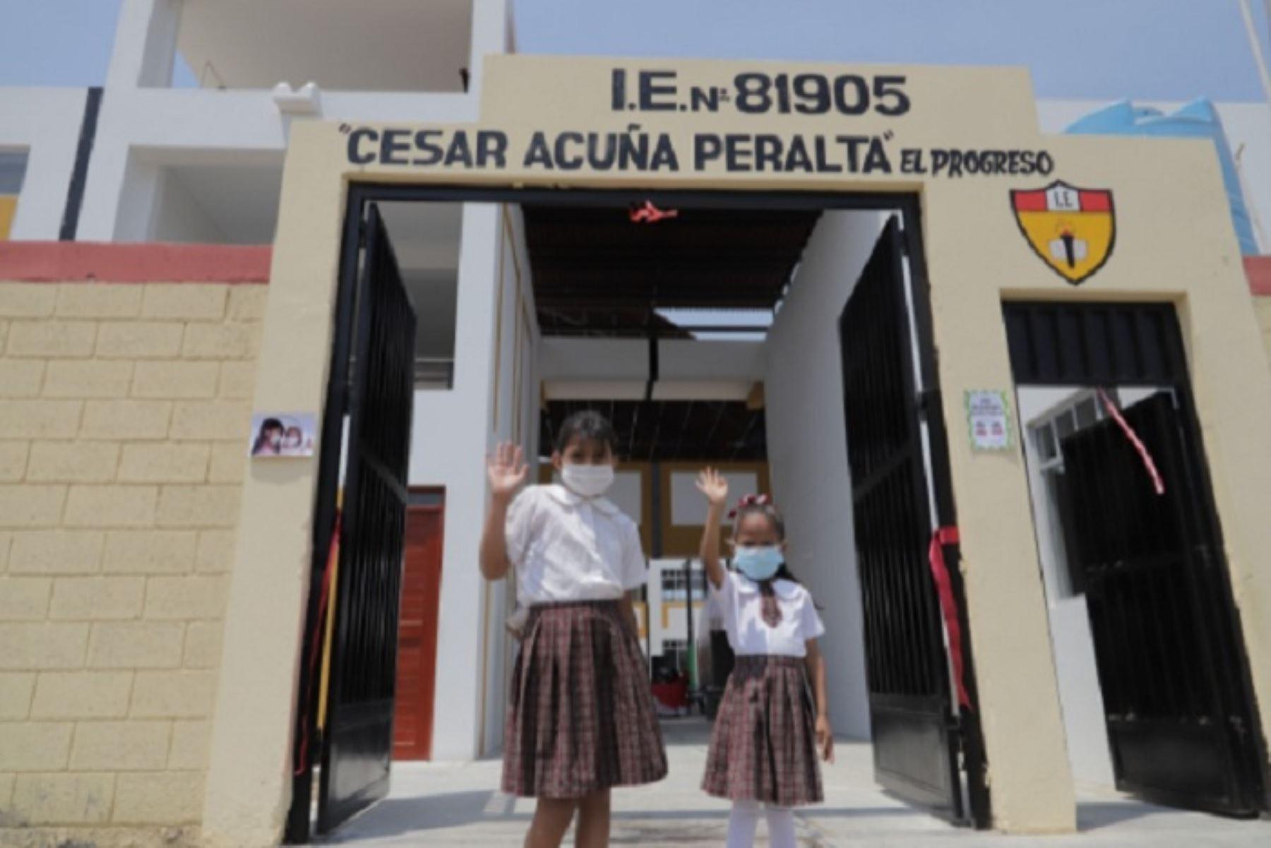 Reconstrucción: inauguran tres colegios en provincia liberteña de Chepén