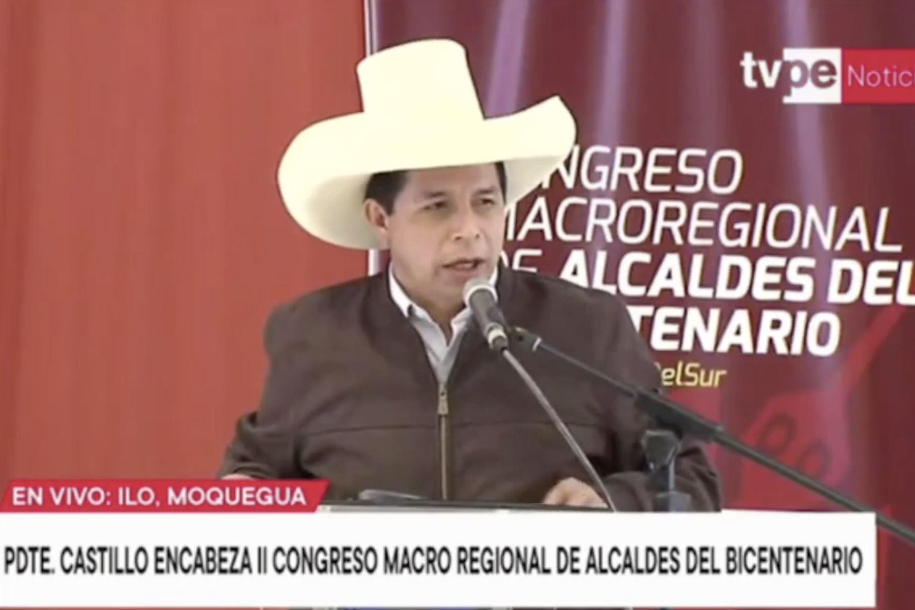 Presidente Castillo: Gobierno destrabará proyectos de municipios