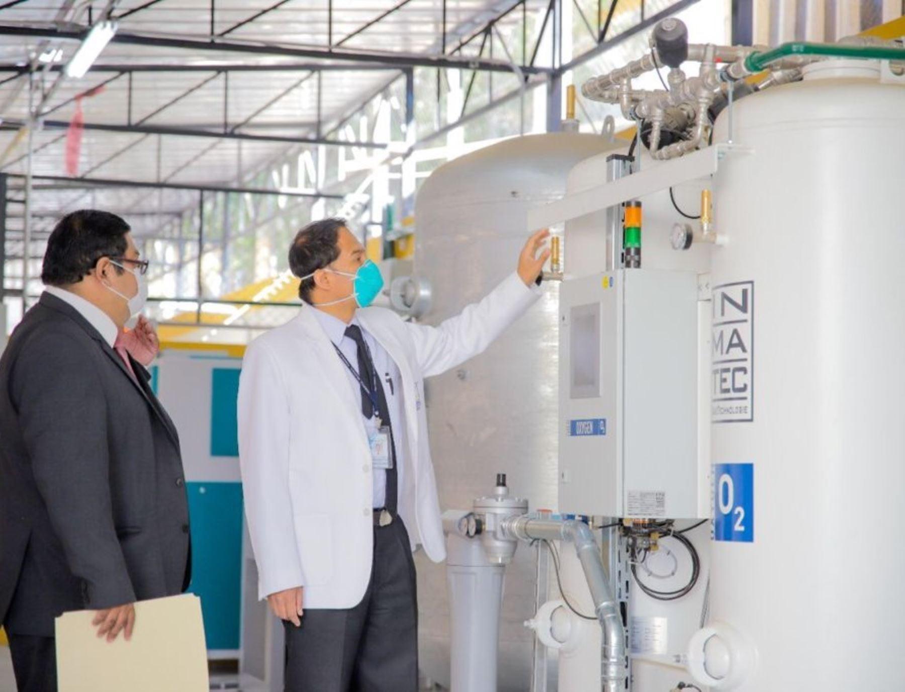 Arequipa garantiza la producción de oxígeno medicinal en el Hospital Honorio Delgado