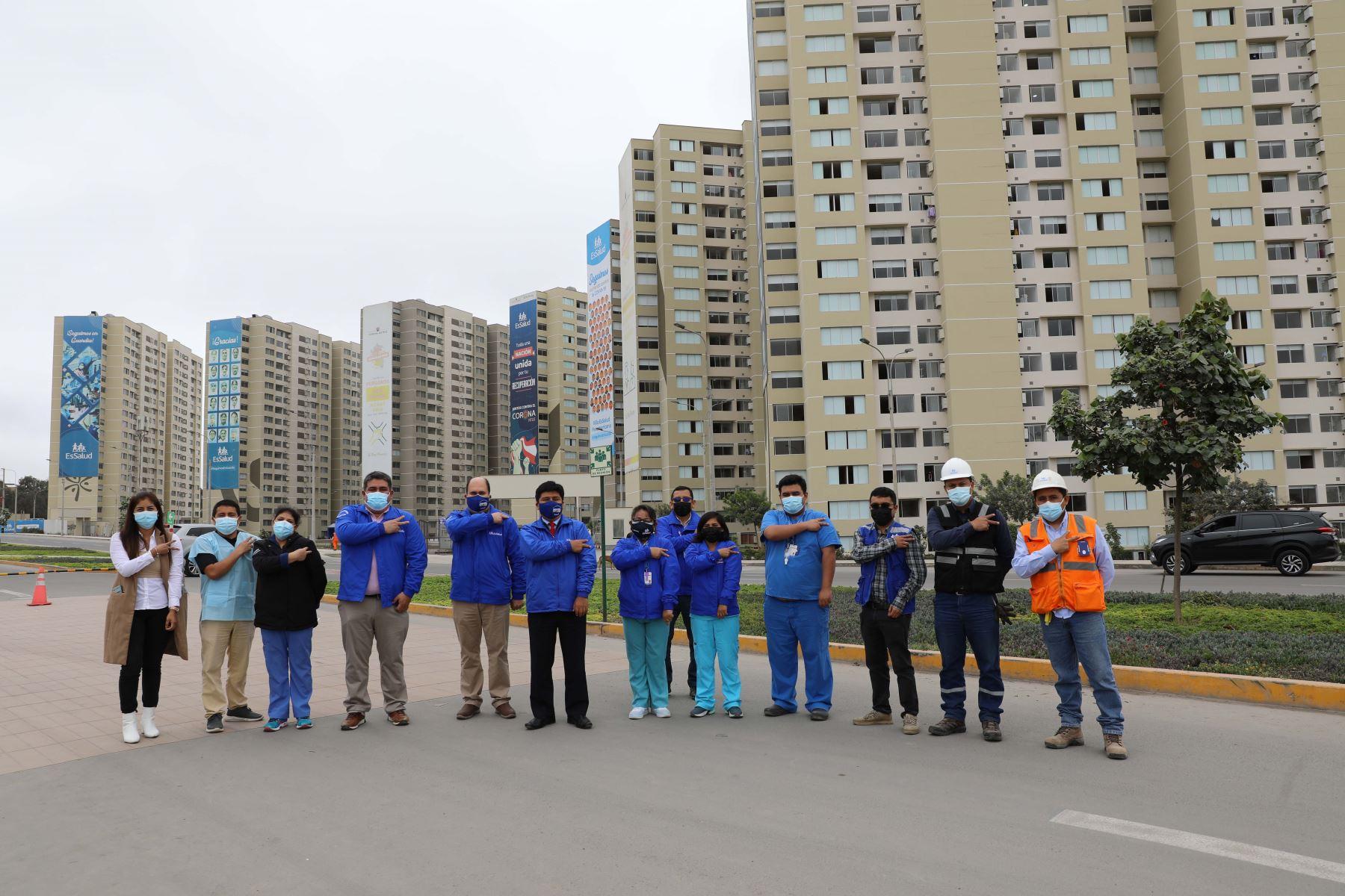 EsSalud implementa en Villa Panamericana nueva torre con 400 camas de cara a tercera ola