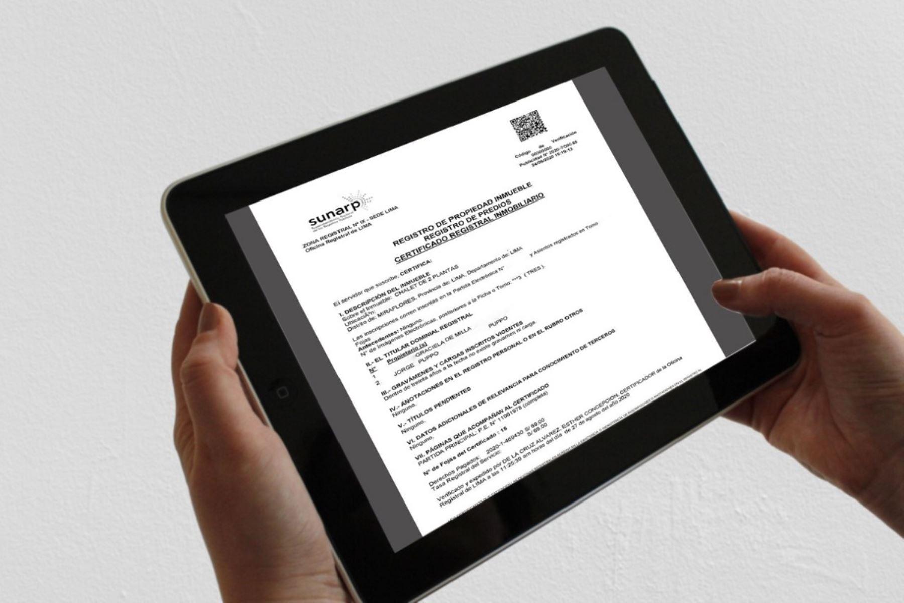 Aumenta emisión de publicidad registral necesaria para actividades del sector inmobiliario
