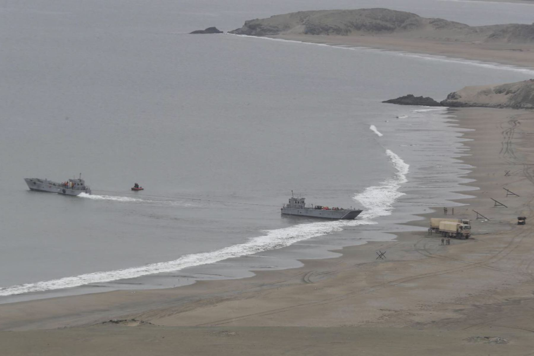 Playas de Huacho fueron escenario de operación anfibia del Ejército Multinacional Unitas