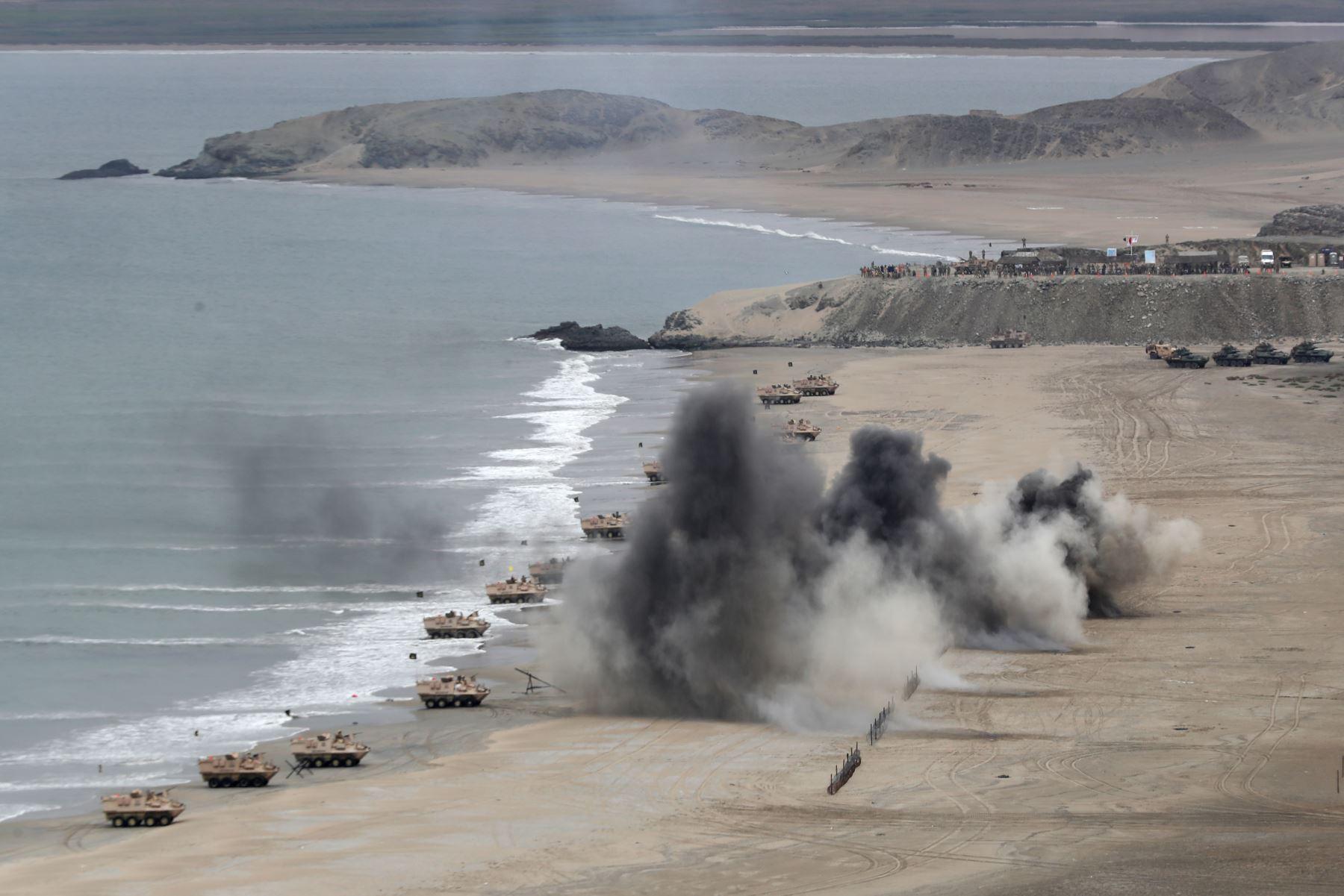 Playas de Huacho fueron escenario de operación anfibia multinacional Unitas