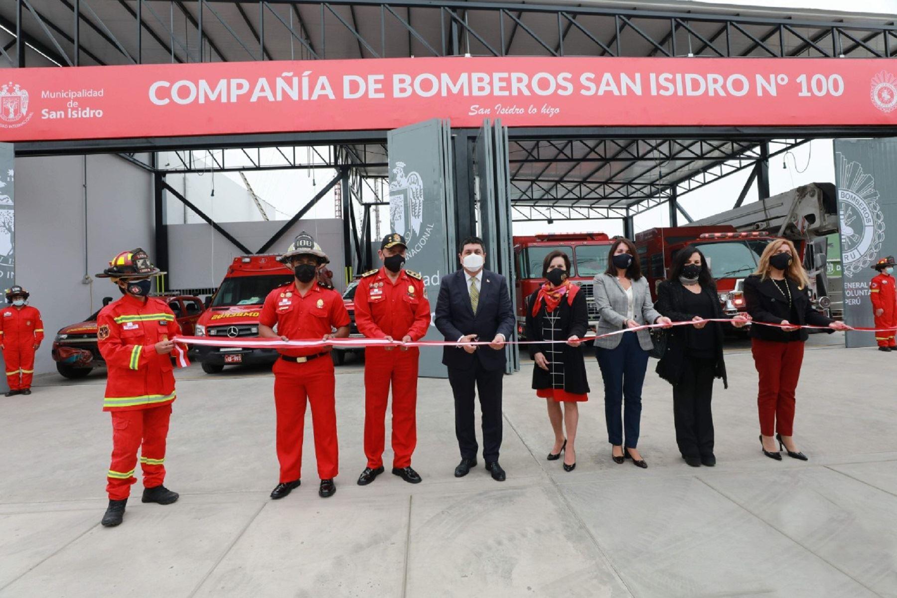 ¡Buena noticia! San Isidro inaugura nueva estación de Compañía de Bomberos N° 100
