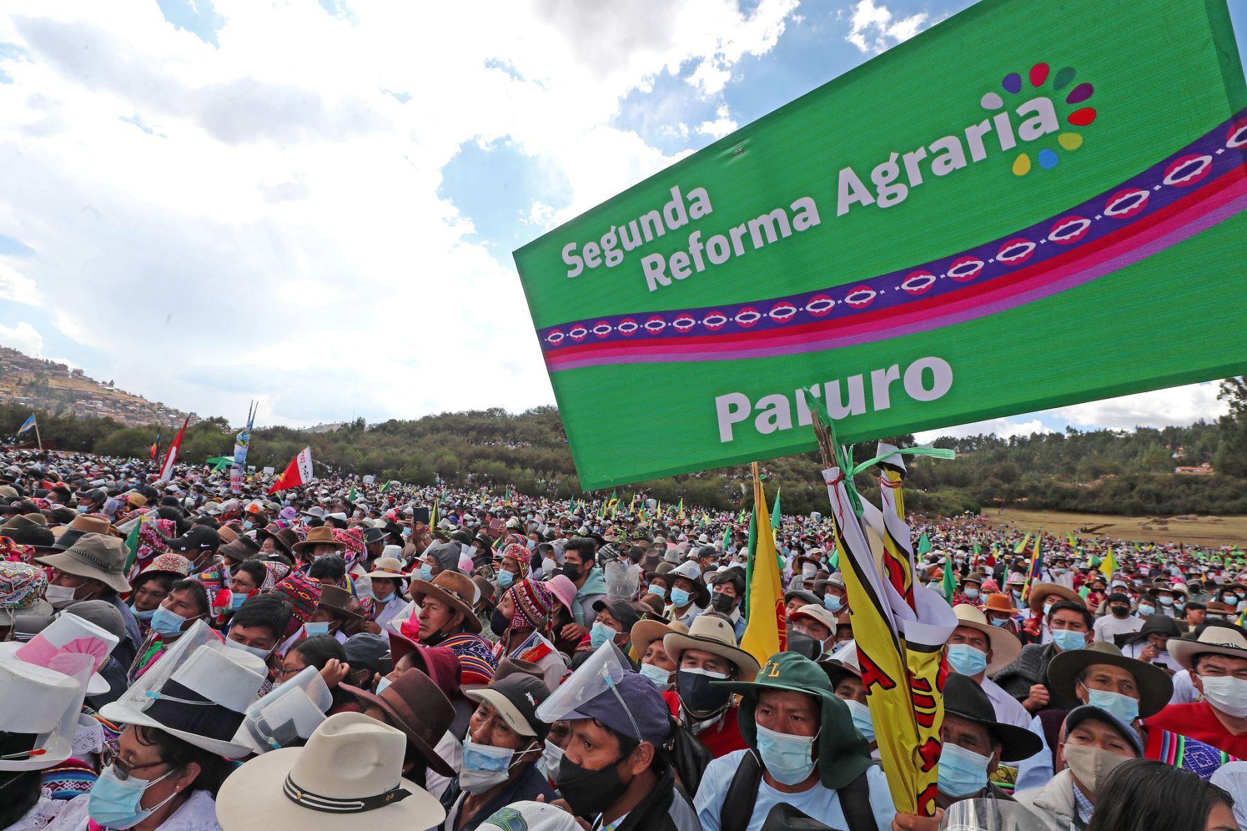 La Segunda Reforma Agraria reivindicará a los agricultores e integrará a las regiones, afirmó el gobernador de Ayacucho, Carlos Rua. Foto: ANDINA/Prensa Presidencia.