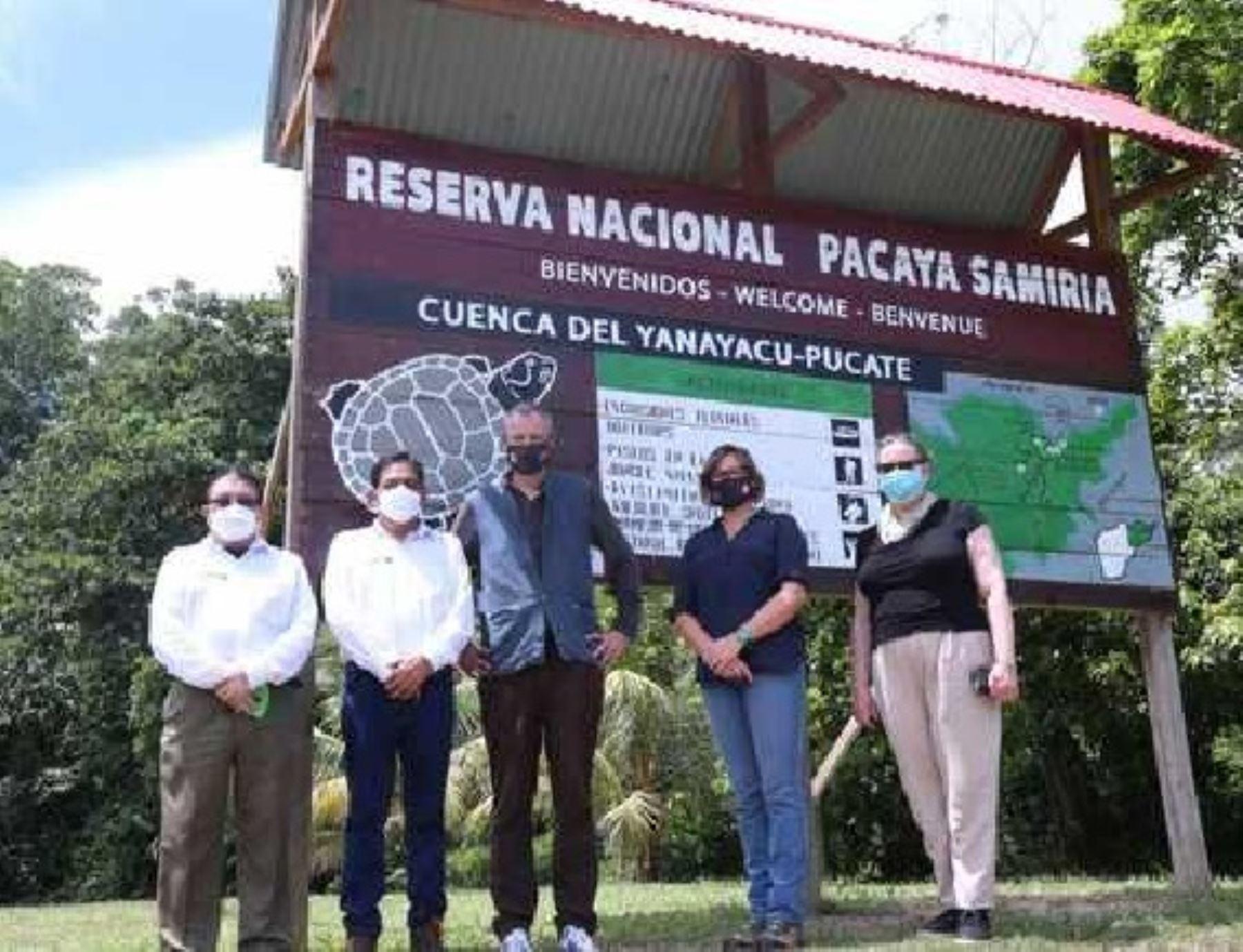 Autoridades supervisan acciones para conservar la biodiversidad en Reserva Pacaya Samiria
