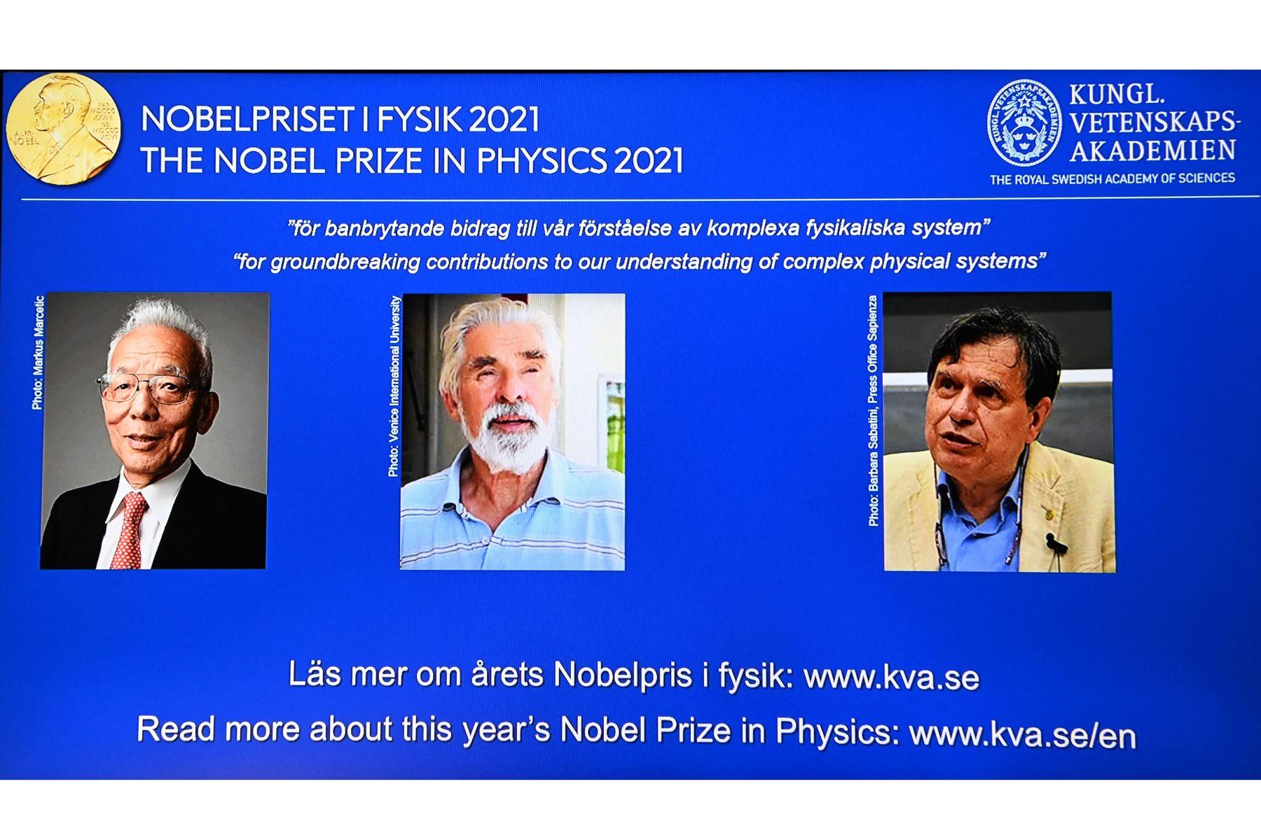 El Premio Nobel de Física es para expertos en el clima y un teórico italiano