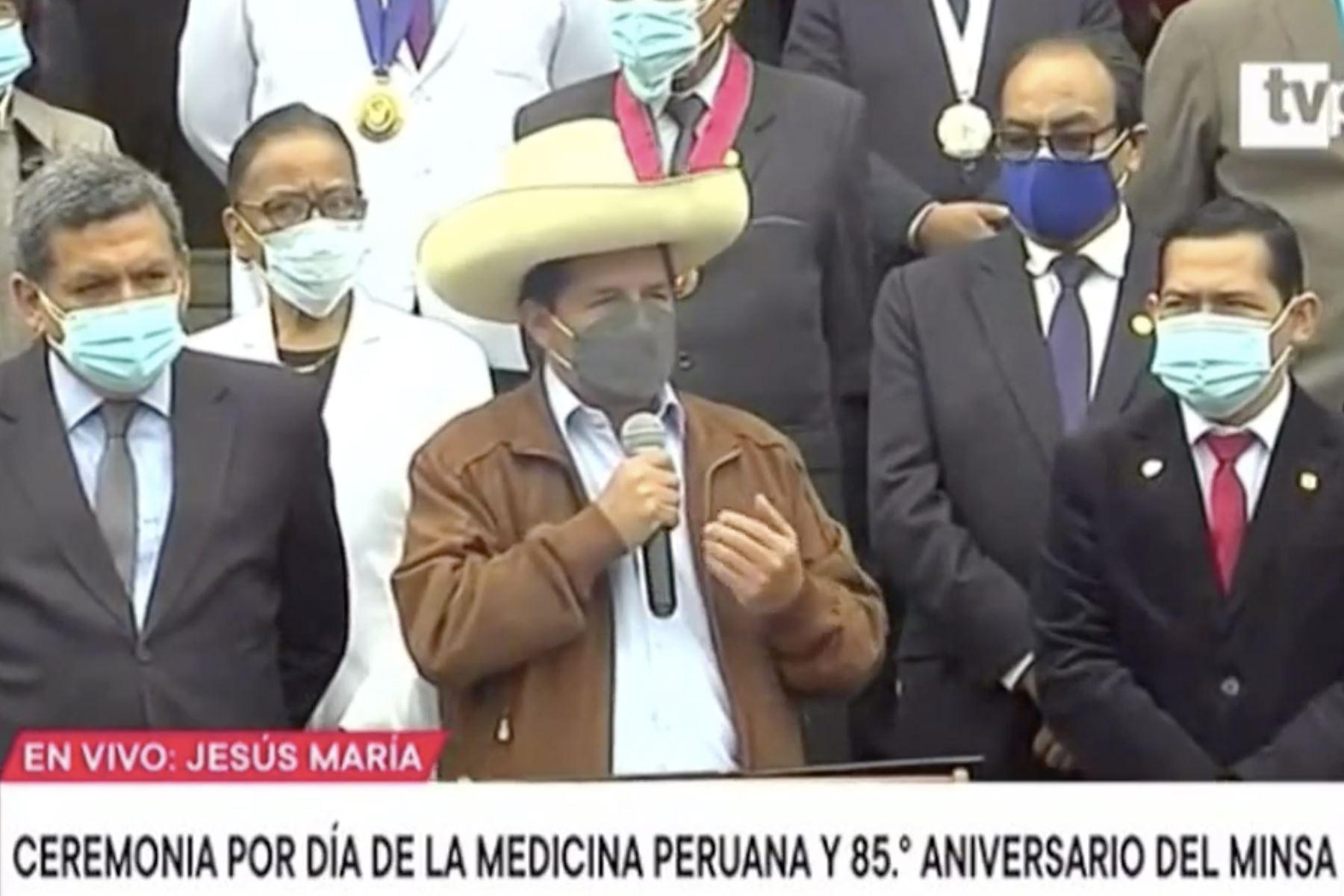 Presidente Castillo: la salud debe ser un derecho constitucional para todos