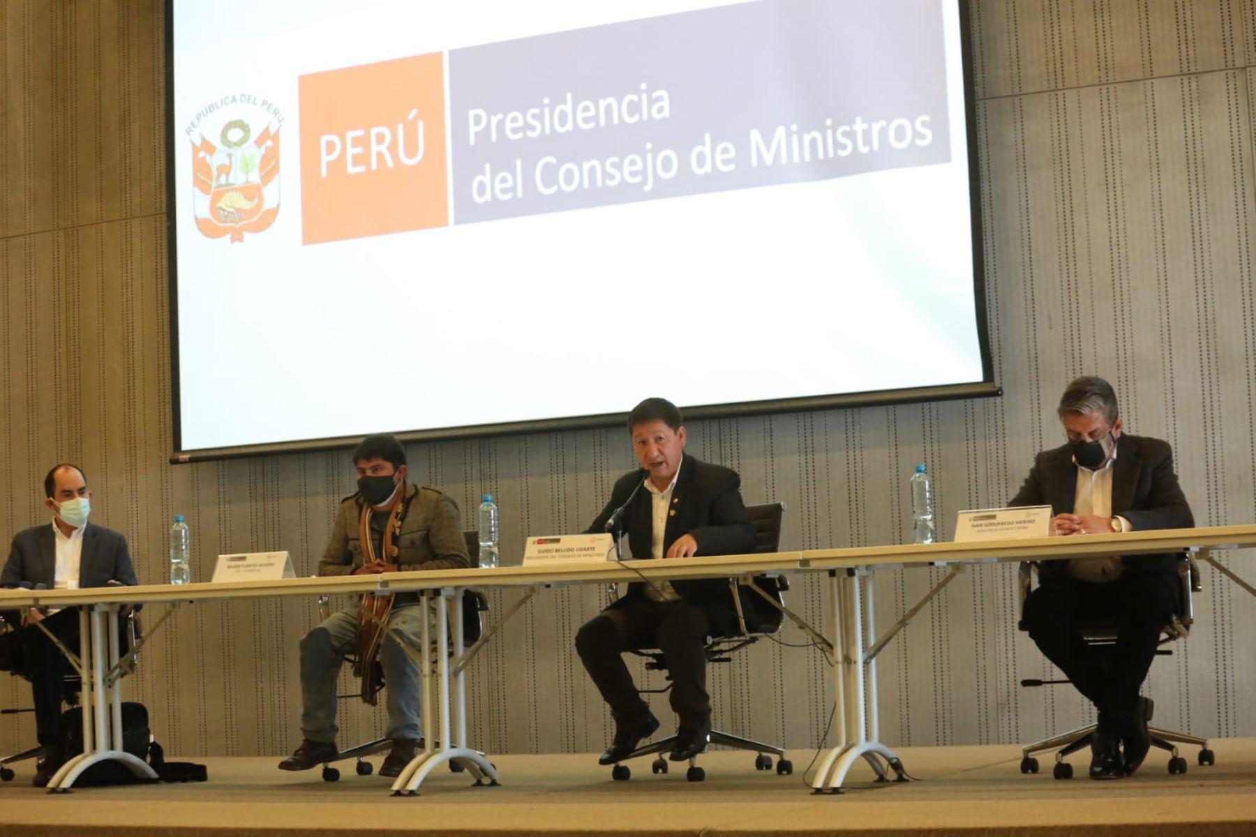 Gobierno se reunió con representantes de Chumbivilcas y Las Bambas para retomar diálogo
