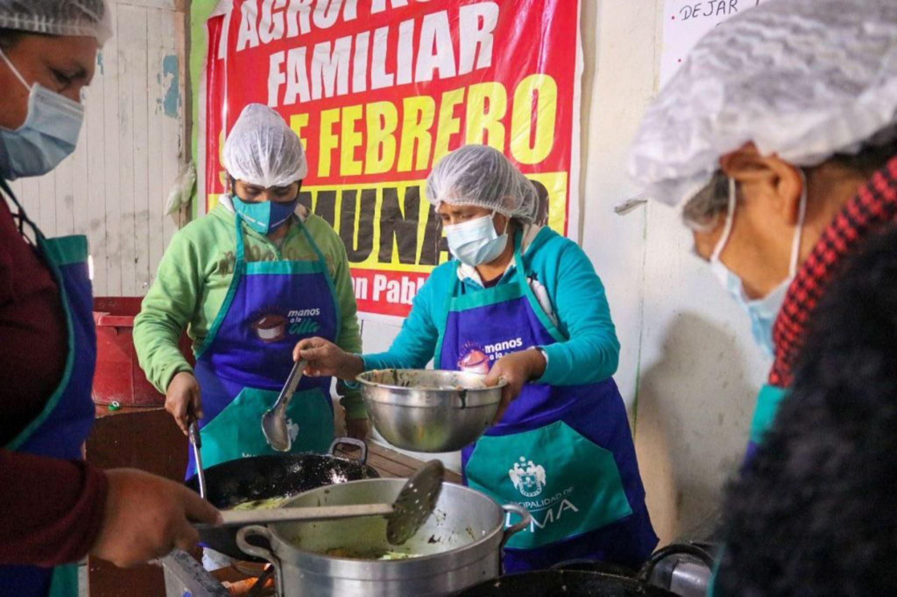 MML entregó 300 desayunos nutritivos a cuatro ollas comunes de San Juan de Lurigancho