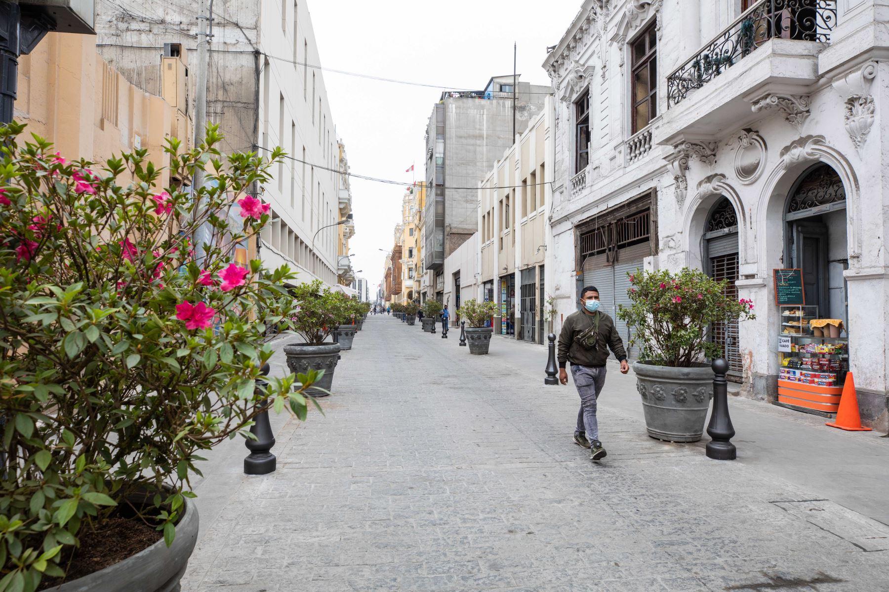 Centro histórico de Lima: primera etapa de peatonalización estará lista en noviembre